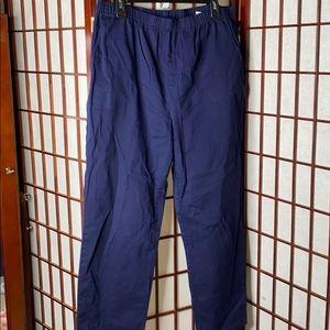 Navy denim&co pull on pants w pockets